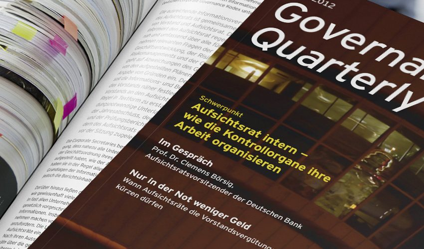 EY Magazin Governance Matters Quaterly